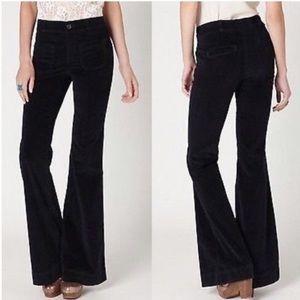 Anthro. Pilcro Stet Corduroy Flare Button Jeans